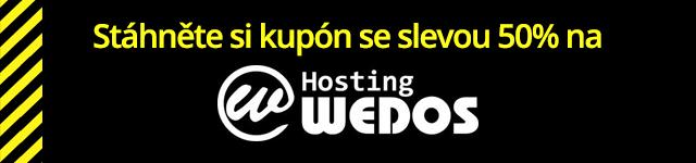 Sleva na webhosting WEDOS